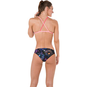 speedo Diamondize 2 Piece Crossback Bikini Dam black/bubblegumpink/postitpink